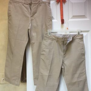 2 pairs kids cacky pants smoke & pet free home